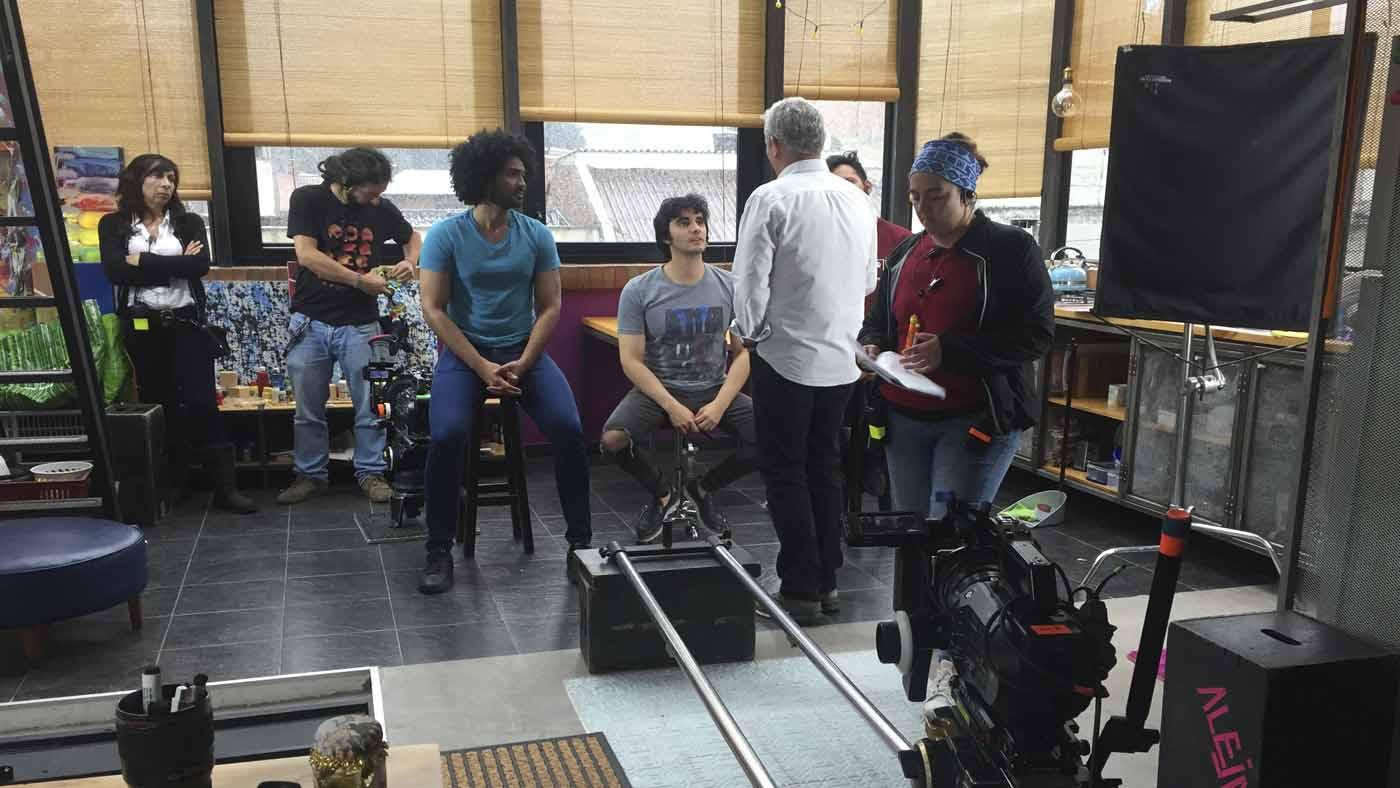 Fotografía de la producción del rodaje Inolvidable Primera Vez